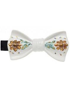 Бабочка с цветочным рисунком белая глянцевая Cor Sine Labe Doli