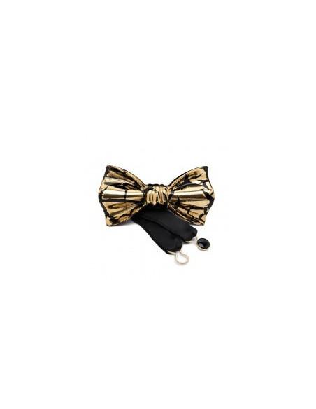 Бабочка золотисто-черная глянцевая Cor Sine Labe Doli