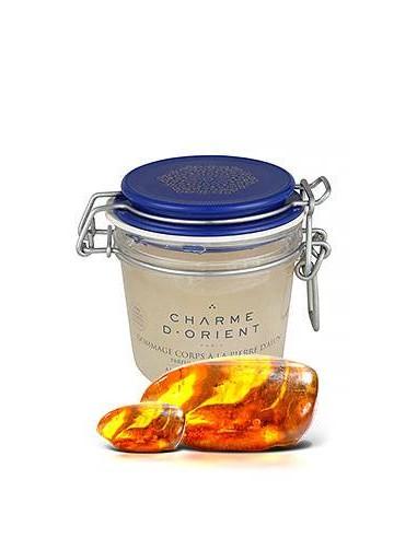 Солевой пилинг для тела с квасцовым камнем и ароматом янтаря Charme D Orient